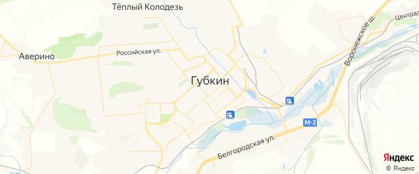 Карта Губкина с районами, улицами и номерами домов: Губкин на карте России