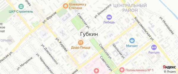 Переулок Чайковского на карте Губкина с номерами домов
