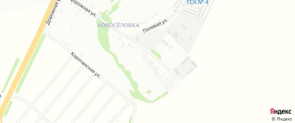 Полевой переулок на карте Губкина с номерами домов