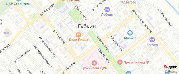 Советская улица на карте Губкина с номерами домов
