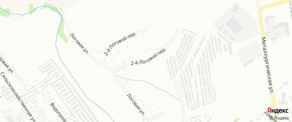 Логовой 2-й переулок на карте Губкина с номерами домов
