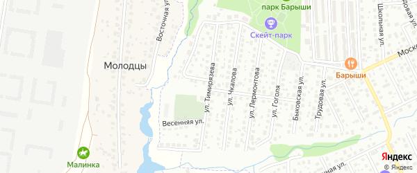 Улица Тимирязева на карте Щербинки с номерами домов