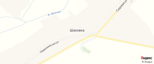 Дачная улица на карте хутора Шаховки с номерами домов