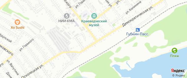 Территория ГСК 1 ул Дзержинского на карте Губкина с номерами домов