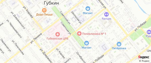 Улица Чайковского на карте Губкина с номерами домов