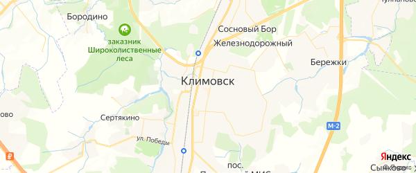 Карта Климовска с районами, улицами и номерами домов