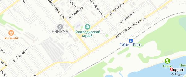 Переулок Шевченко на карте Губкина с номерами домов
