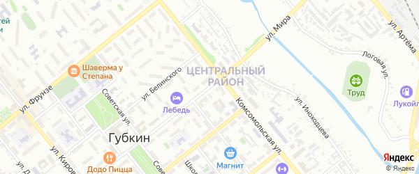 Улица Мира на карте Губкина с номерами домов