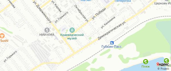 Переулок Героев на карте Губкина с номерами домов