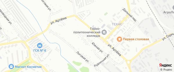 Южная 2-я улица на карте Губкина с номерами домов