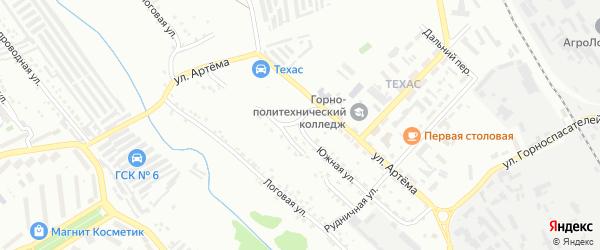 Южная улица на карте Губкина с номерами домов