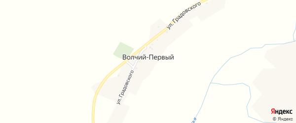 Улица Мира на карте хутора Волчьего-1 с номерами домов
