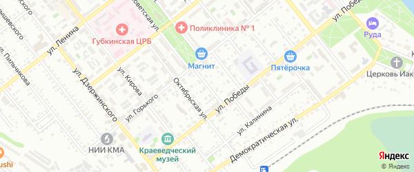 Первомайский переулок на карте Губкина с номерами домов