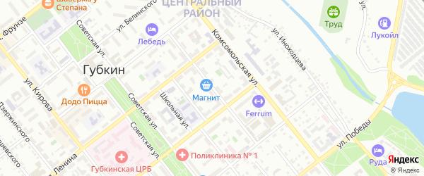 Пролетарская улица на карте Губкина с номерами домов