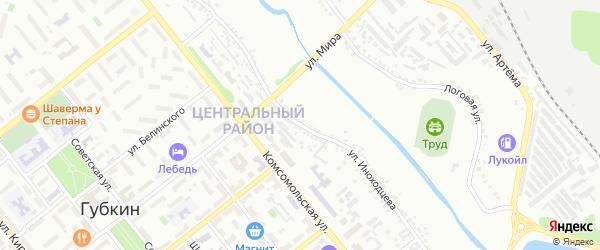 Улица Иноходцева на карте Губкина с номерами домов
