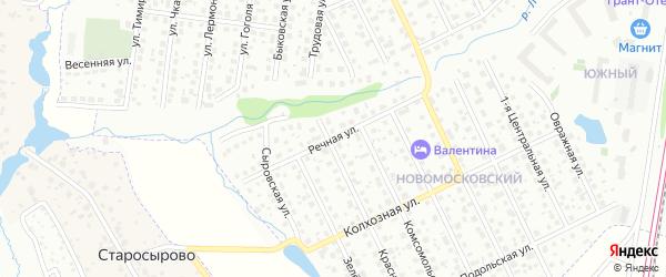 Речная улица на карте Щербинки с номерами домов