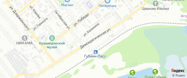 Демократическая улица на карте Губкина с номерами домов