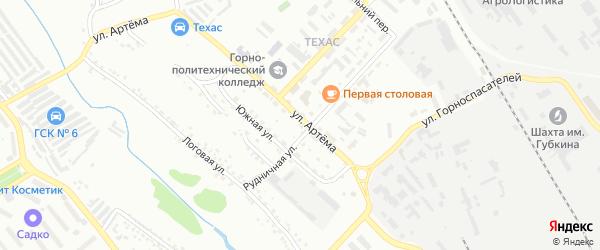 Территория ГСК 9 ул Артема на карте Губкина с номерами домов