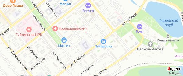 Детский переулок на карте Губкина с номерами домов