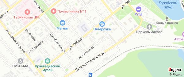 Октябрьский переулок на карте Губкина с номерами домов