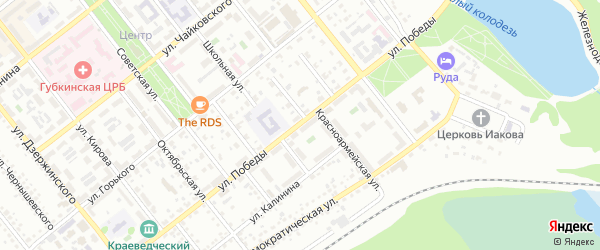 Улица Победы на карте Губкина с номерами домов