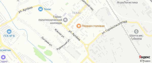 Рудничная улица на карте Губкина с номерами домов