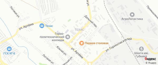 Металлургическая улица на карте Губкина с номерами домов