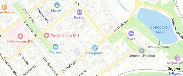 Пионерский переулок на карте Губкина с номерами домов