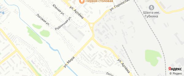 Улица Артема на карте Губкина с номерами домов