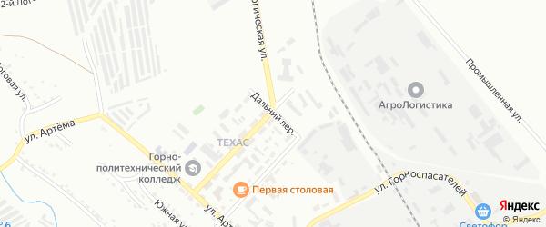Дальний переулок на карте Губкина с номерами домов