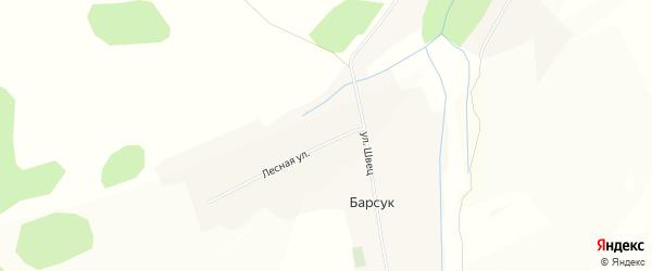 Карта села Барсука в Белгородской области с улицами и номерами домов