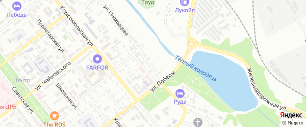 Территория ГСК 6А ул Иноходцева на карте Губкина с номерами домов