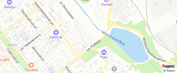 Территория ГСК 6 ул Иноходцева на карте Губкина с номерами домов