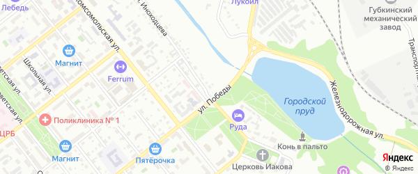 Территория ГСК 2 ул Иноходцева на карте Губкина с номерами домов