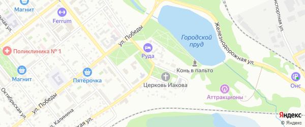 Улица Скворцова на карте Губкина с номерами домов
