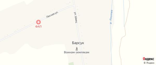 Лесная улица на карте села Барсука с номерами домов