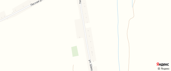 Улица Швец на карте села Барсука с номерами домов