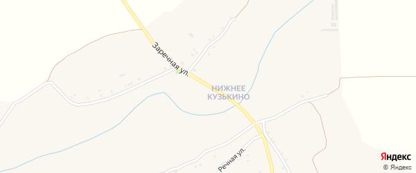 Заречная улица на карте села Верхнего Кузькина с номерами домов