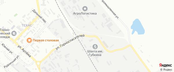 Улица Горноспасателей на карте Губкина с номерами домов