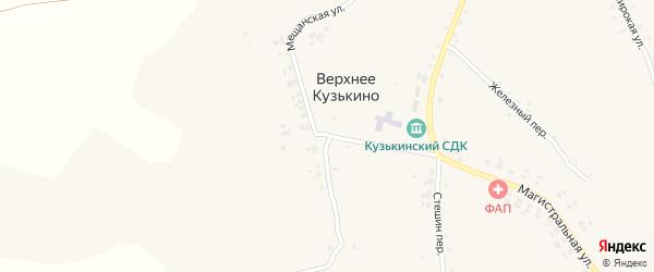 Мещанская улица на карте села Верхнего Кузькина с номерами домов