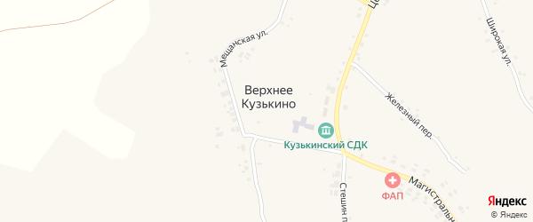 Переулок Зеленый клин на карте села Верхнего Кузькина с номерами домов