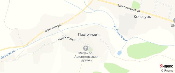 Карта Проточного села в Белгородской области с улицами и номерами домов