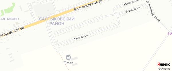 Светлая улица на карте Губкина с номерами домов