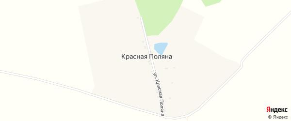 Улица Красная Поляна на карте поселка Красная Поляна с номерами домов