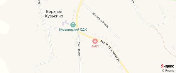 Магистральная улица на карте села Верхнего Кузькина с номерами домов