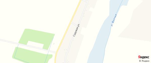 Садовая улица на карте села Волчьей Александровки с номерами домов