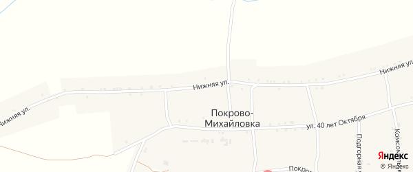 Нижняя улица на карте села Покрова-Михайловки с номерами домов