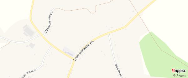 Центральная улица на карте села Верхнего Кузькина с номерами домов