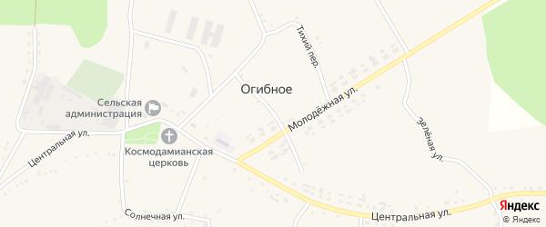 Колхозный переулок на карте Огибного села с номерами домов