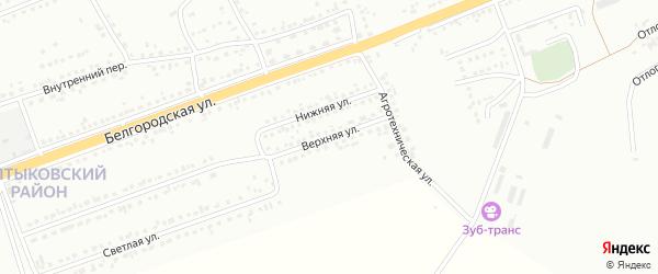 Верхняя улица на карте Губкина с номерами домов